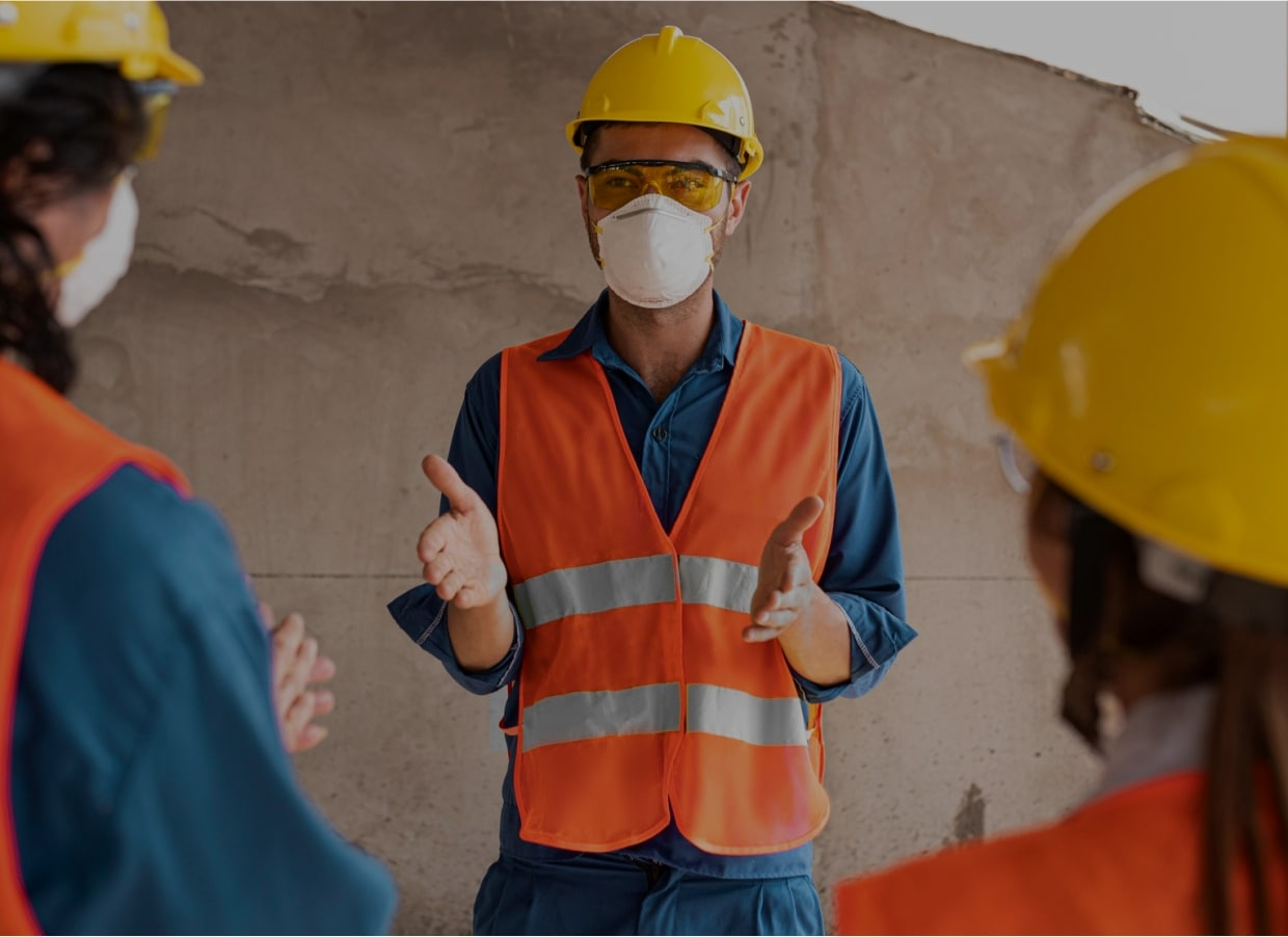 Organised efforts and procedures for identifying workplace hazards and reducing accidents and exposure to harmful situations and substances.